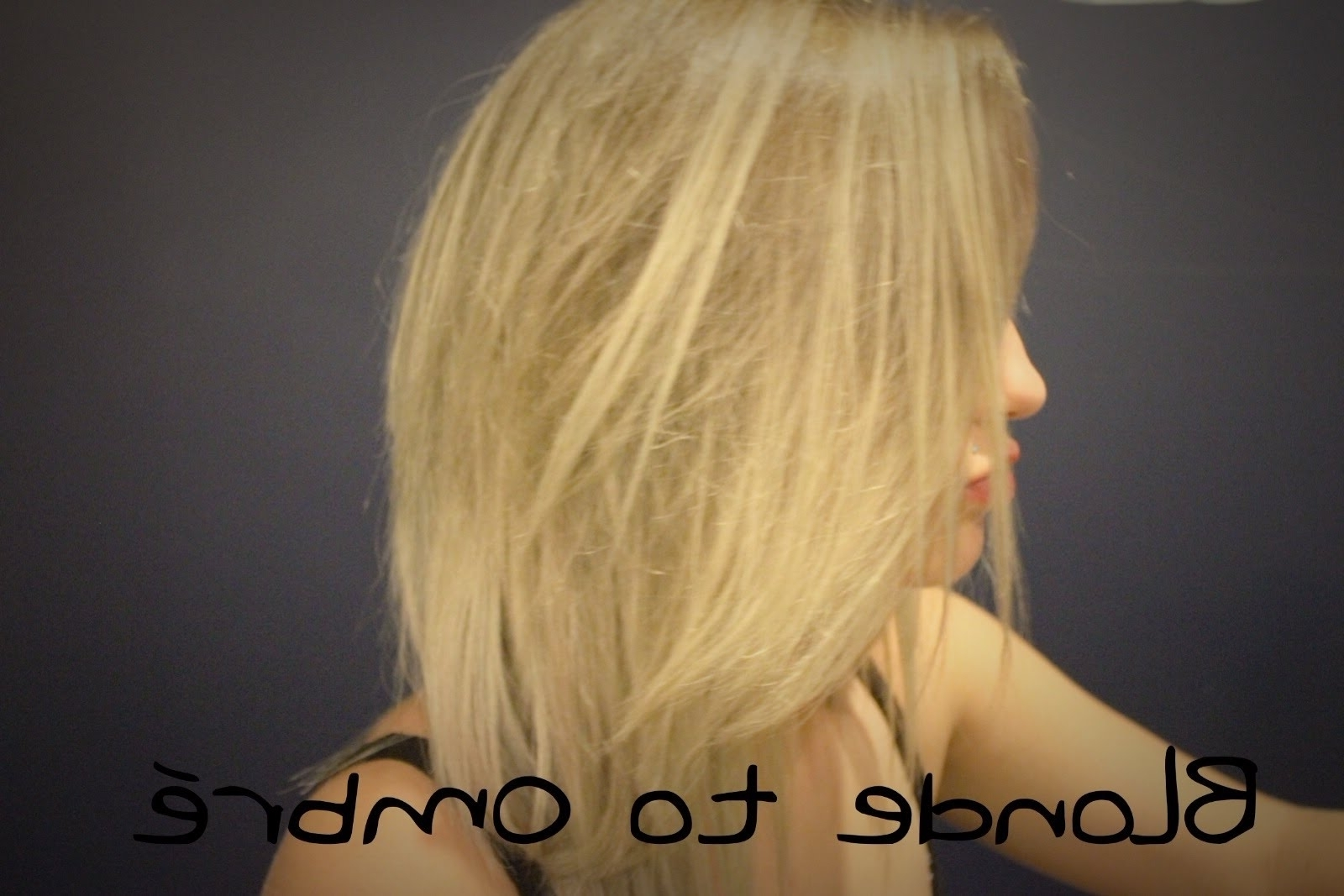 Go From Blonde To Ombre At Home – Youtube Intended For Fashionable Grown Out Platinum Ombre Blonde Hairstyles (Gallery 6 of 20)
