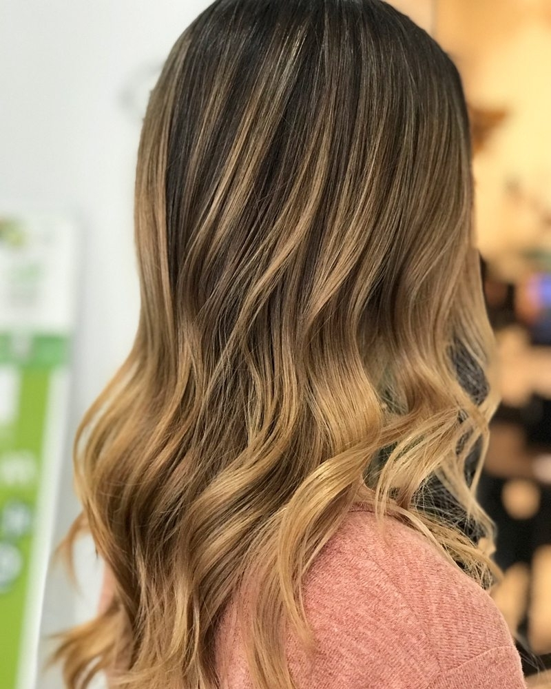 Golden Blonde Balayage Ombré Hair W Olaplex – Yelp With Most Current Golden Blonde Balayage Hairstyles (Gallery 7 of 20)