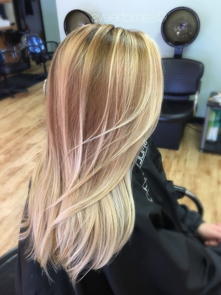 Golden Honey Blonde Balayage , Dirty Blonde Roots , Blonde Ombré For Pertaining To Well Known Dirty Blonde Balayage Babylights Hairstyles (Gallery 3 of 20)