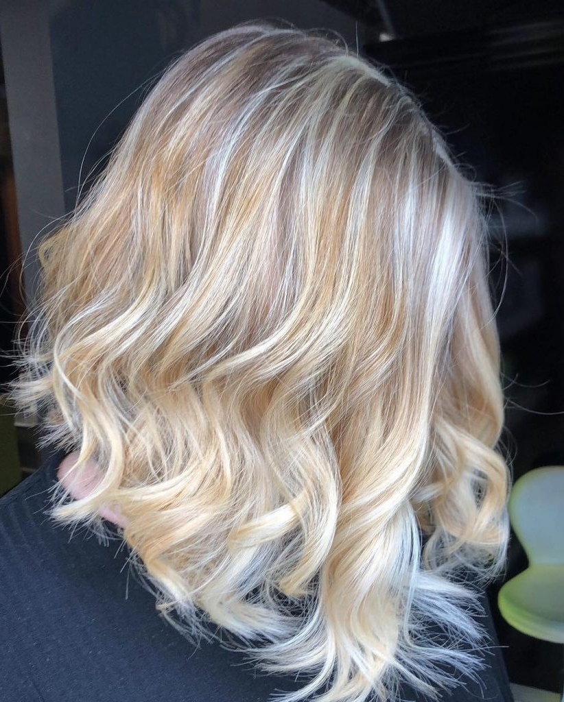 Golden Medium Blonde (160 Free Hair Color Pictures) For Well Liked Golden Blonde Balayage Hairstyles (Gallery 18 of 20)