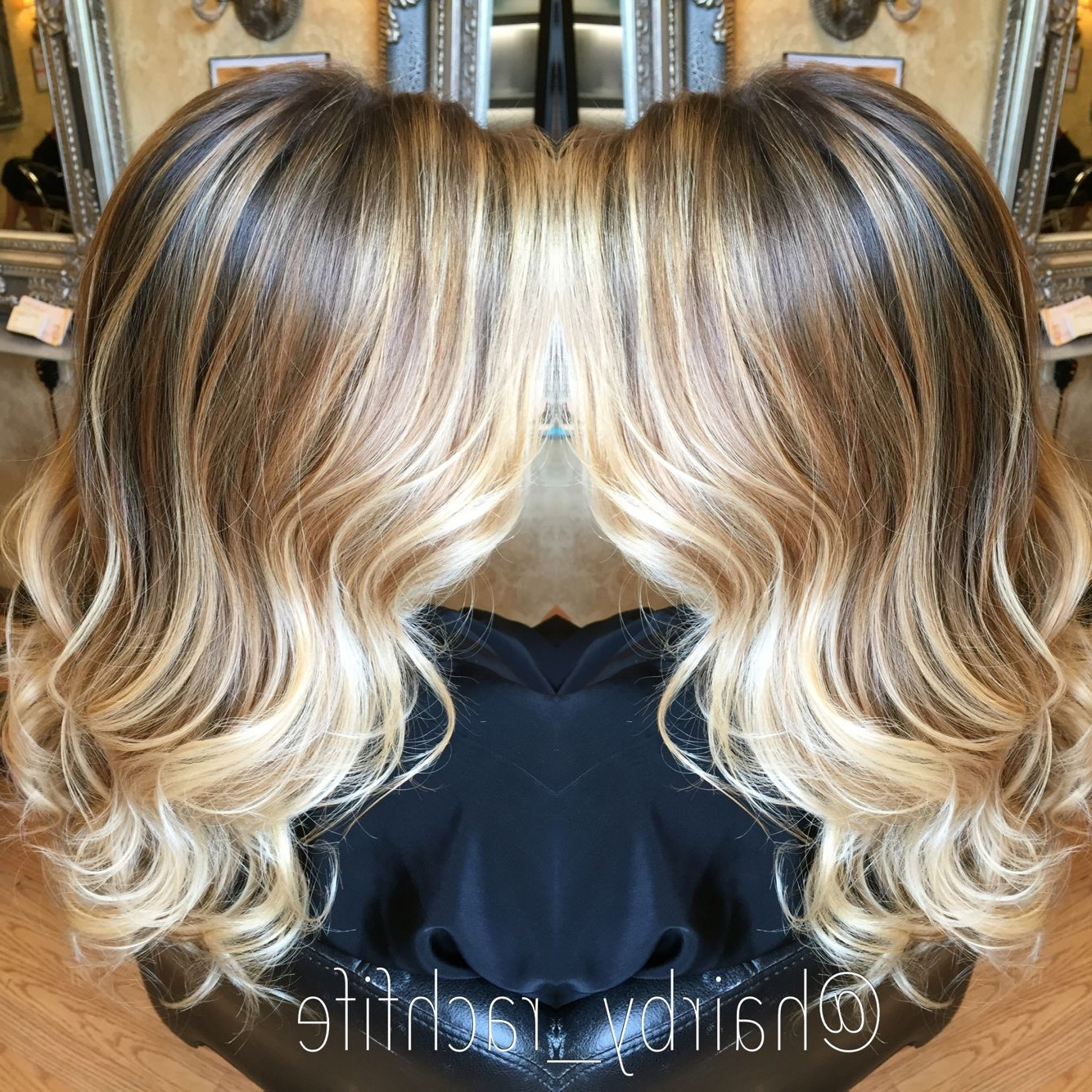 Gorgeous Hand Painted Blonde Balayage Ombre With Beachy Waves. Hair For Widely Used Beachy Waves Hairstyles With Blonde Highlights (Gallery 14 of 20)
