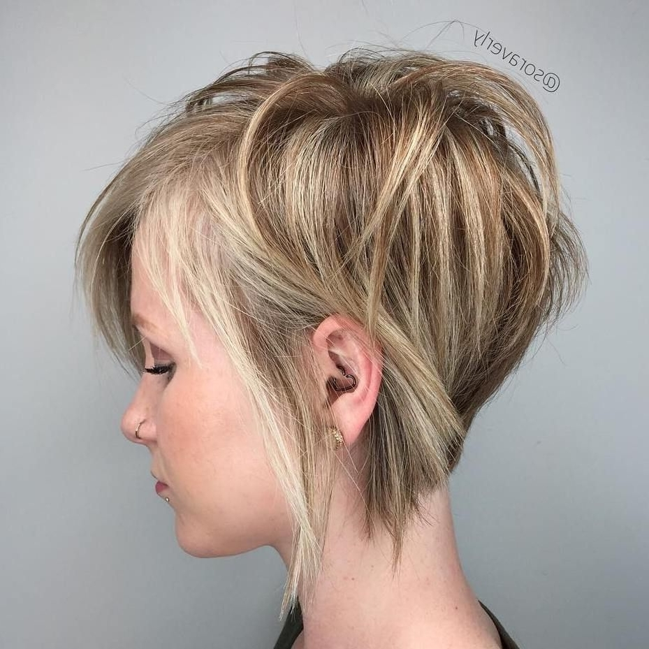 Groovy 'dos With 2018 Soft Pixie Bob Haircuts For Fine Hair (View 5 of 20)