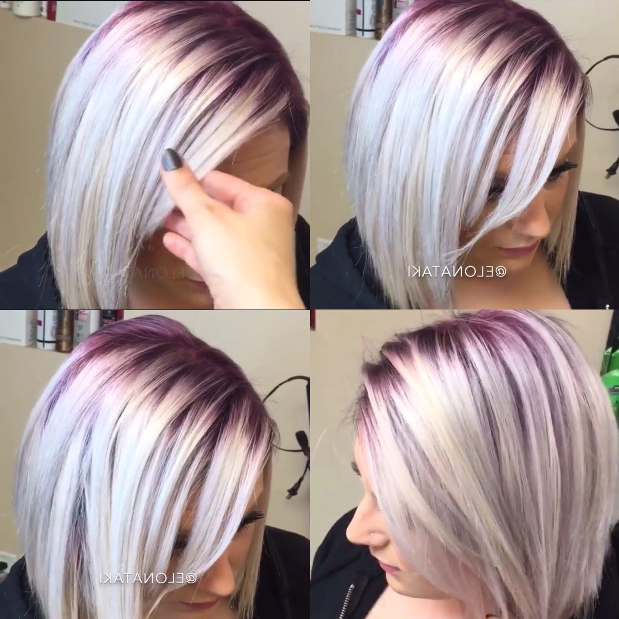 Hair Color And Cuts Throughout Famous Voluminous Platinum And Purple Curls Blonde Hairstyles (View 10 of 20)
