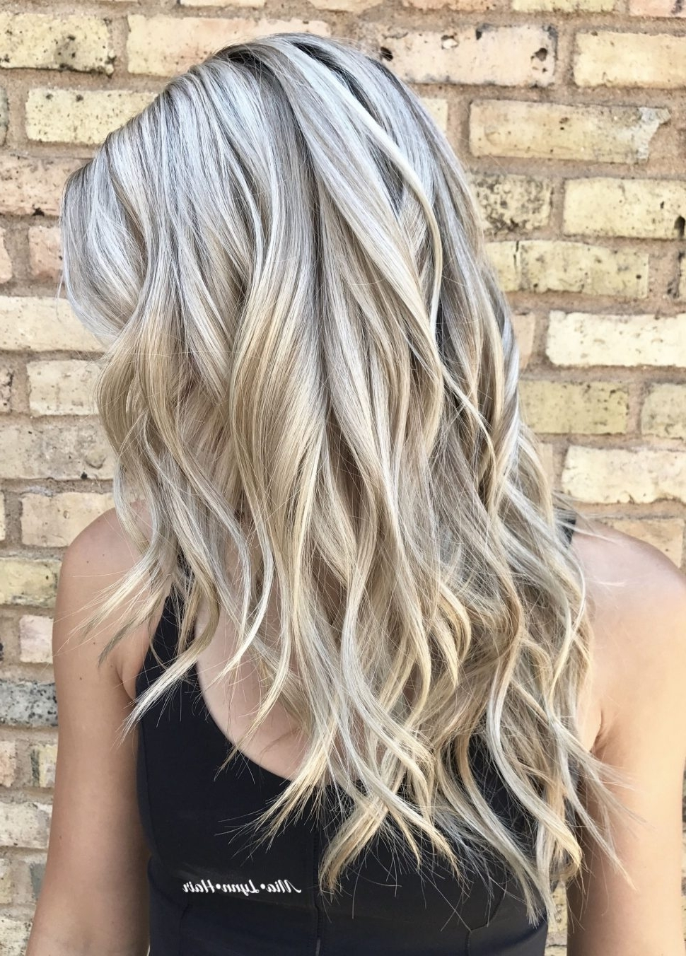 Hair Color : White Blonde Highlights Delectable On Brown Hair Black Within 2017 Dark Blonde Hairstyles With Icy Streaks (View 9 of 20)