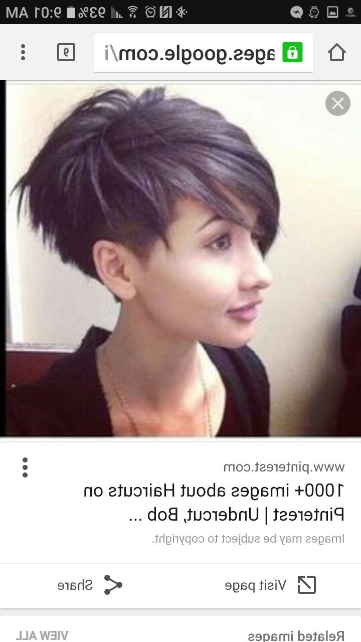 Hair Dos, Haircolor In Most Popular Sassy Undercut Pixie Hairstyles With Bangs (View 5 of 20)