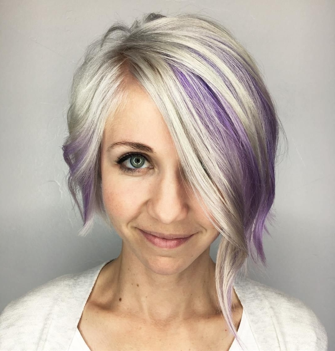 Hair, Growing Out In Most Up To Date Voluminous Platinum And Purple Curls Blonde Hairstyles (View 12 of 20)