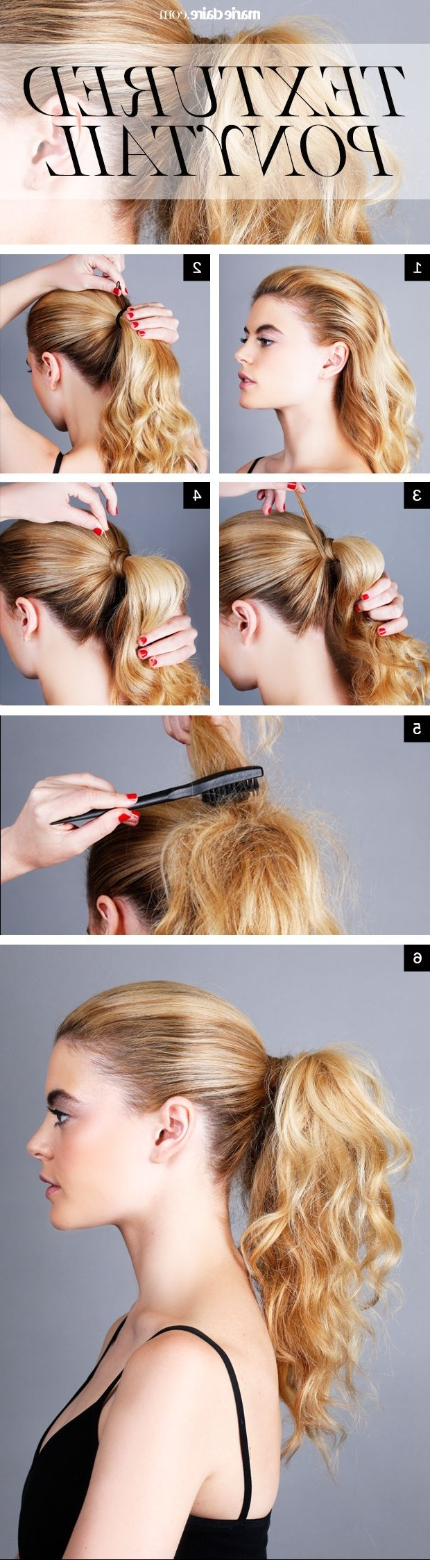 Hair How To: Textured Ponytail For Widely Used Textured Ponytail Hairstyles (View 8 of 20)