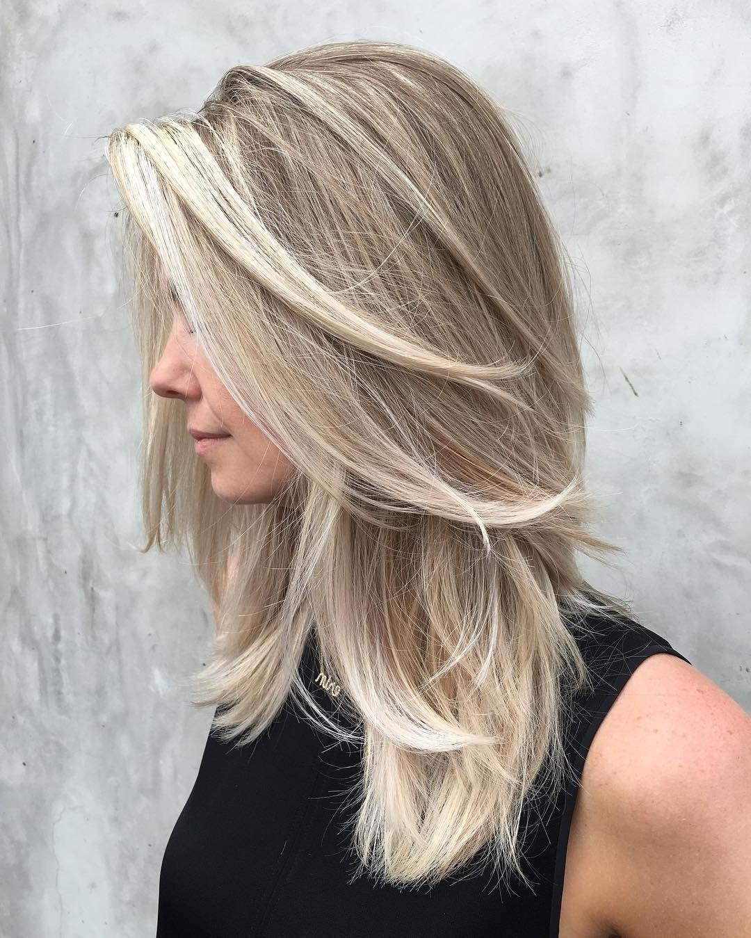Hair In Well Liked Soft Layers And Side Tuck Blonde Hairstyles (View 9 of 20)