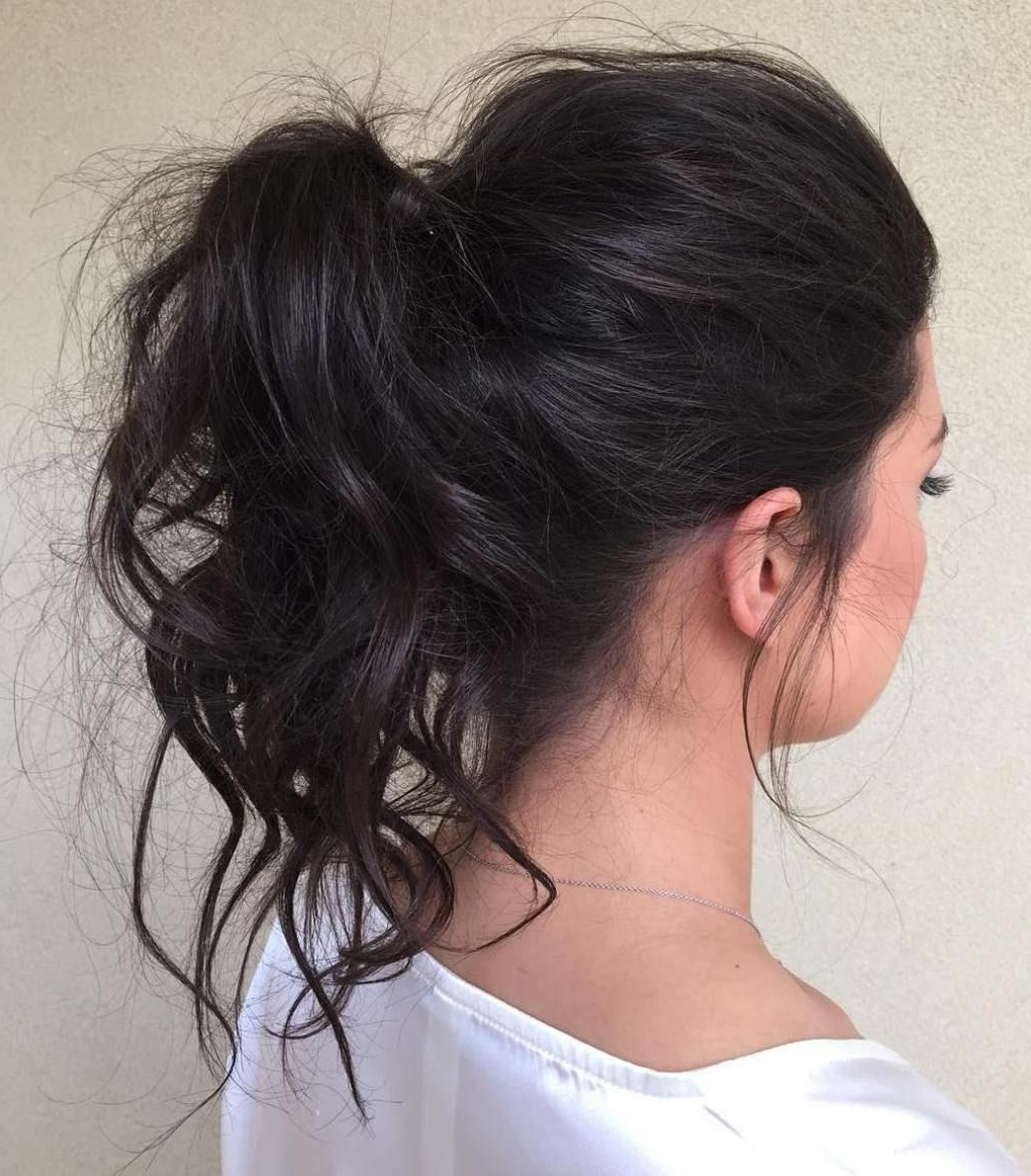 Hair Pertaining To Preferred Mid Length Wavy Messy Ponytail Hairstyles (View 3 of 20)