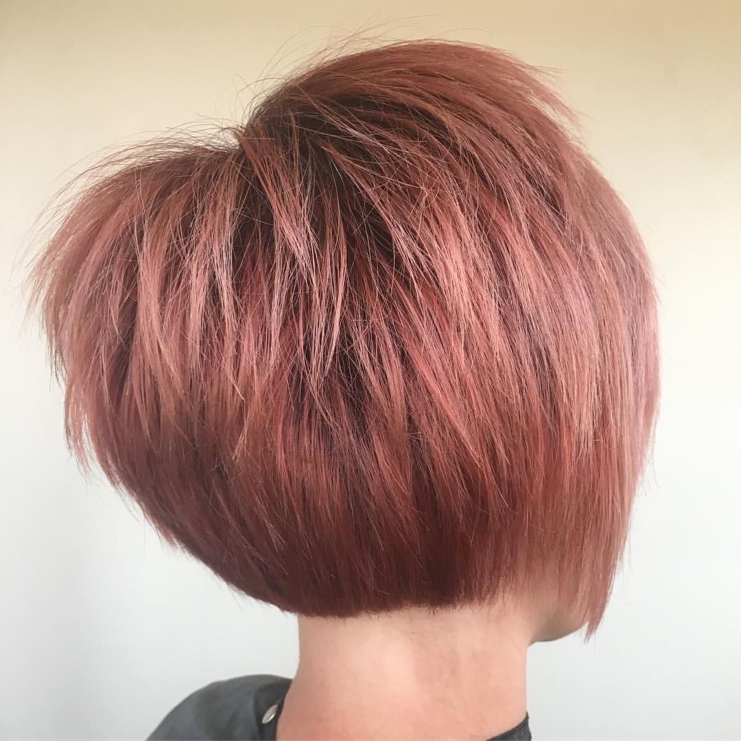 Hair Pertaining To Well Known Rose Gold Pixie Hairstyles (View 11 of 20)