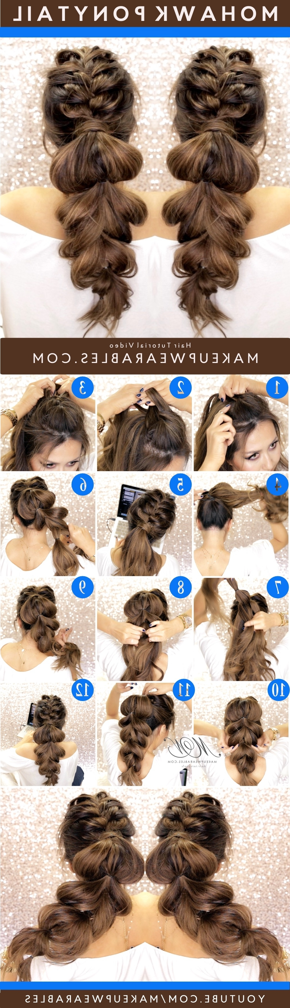 Hair Style Tutorial – Makeupwearables Regarding Current Mohawk Braid Into Pony Hairstyles (View 14 of 20)