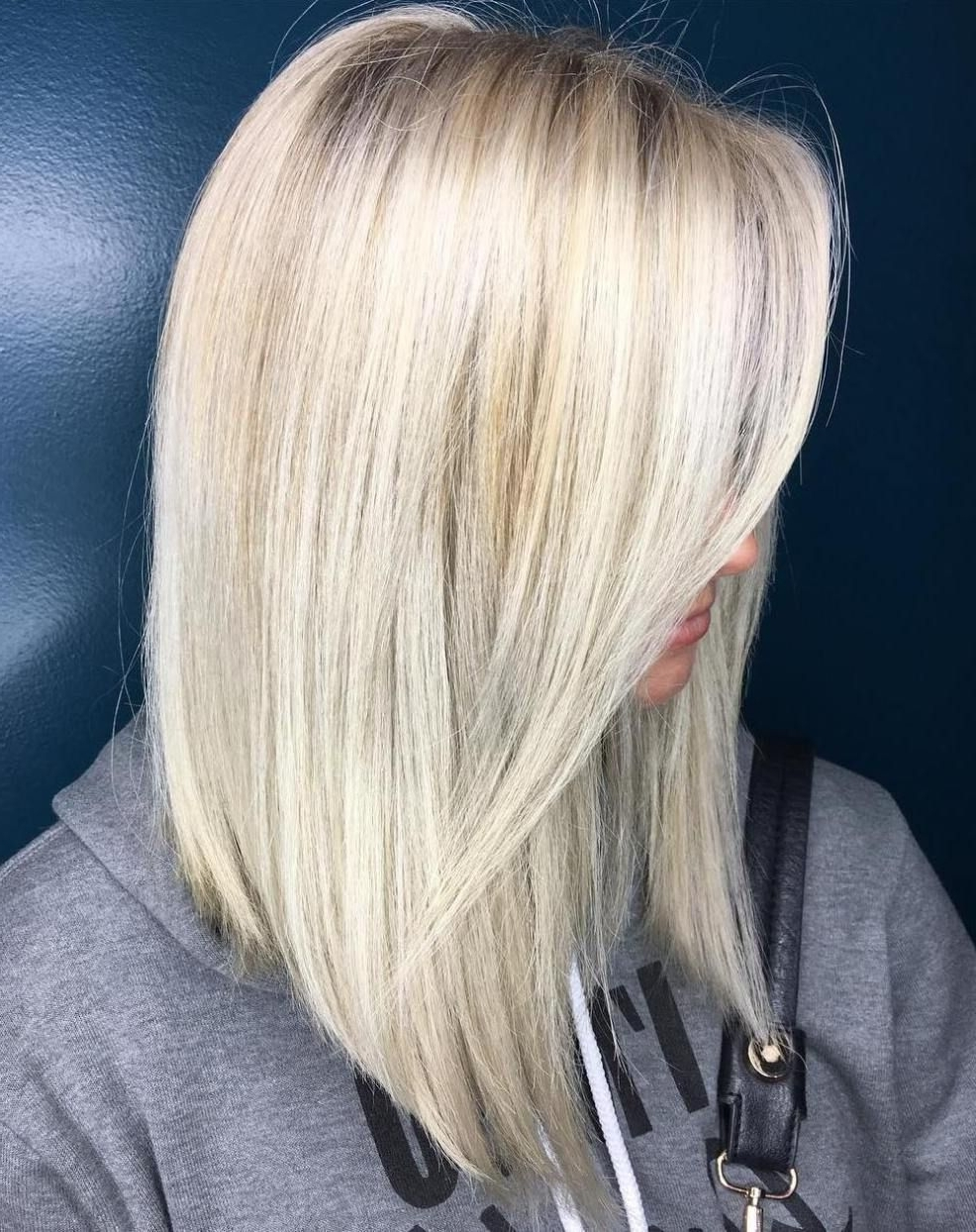 Hair Throughout Preferred Dark And Light Contrasting Blonde Lob Hairstyles (View 13 of 20)