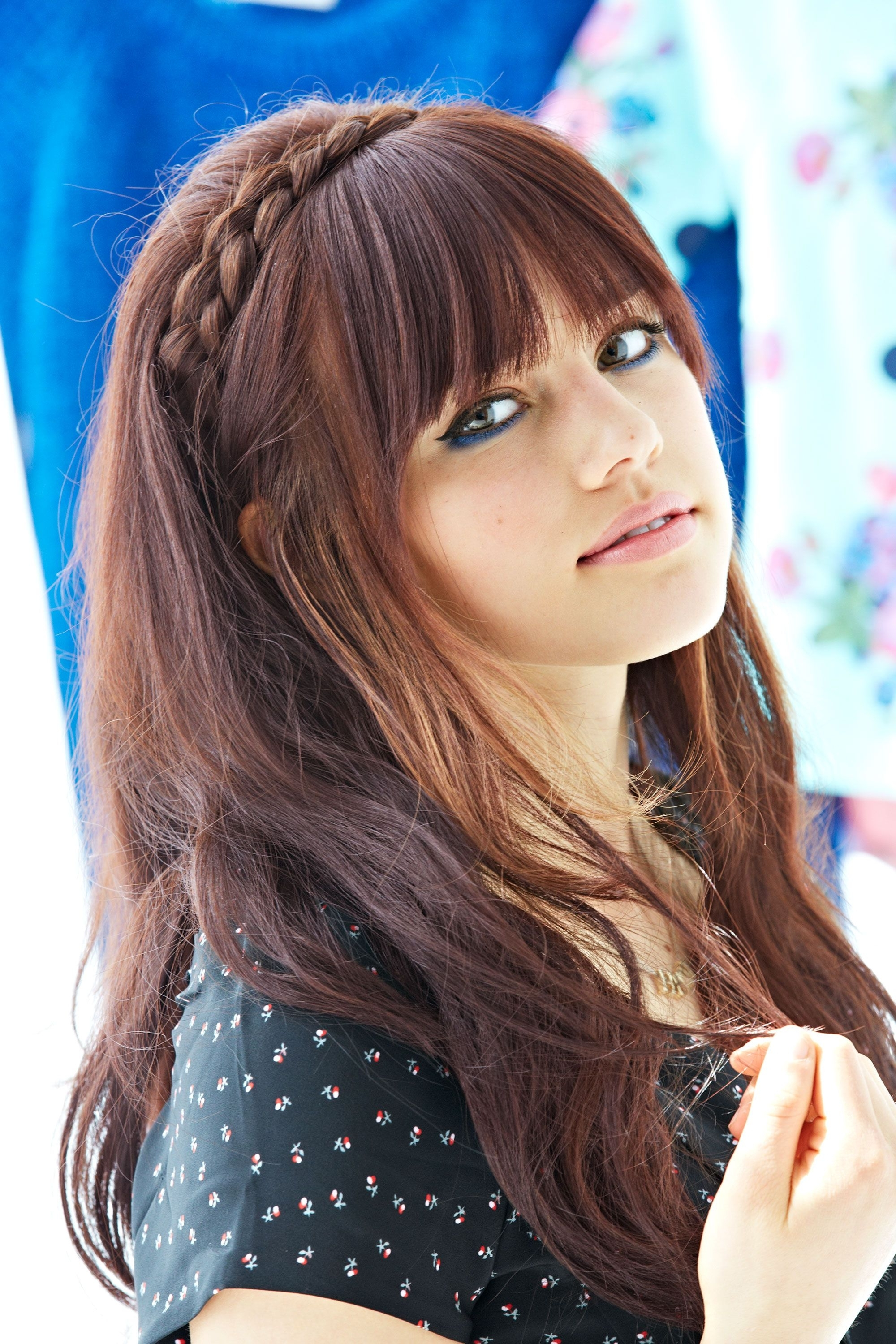 Hair With Fashionable High Braided Pony Hairstyles With Peek A Boo Bangs (View 11 of 20)