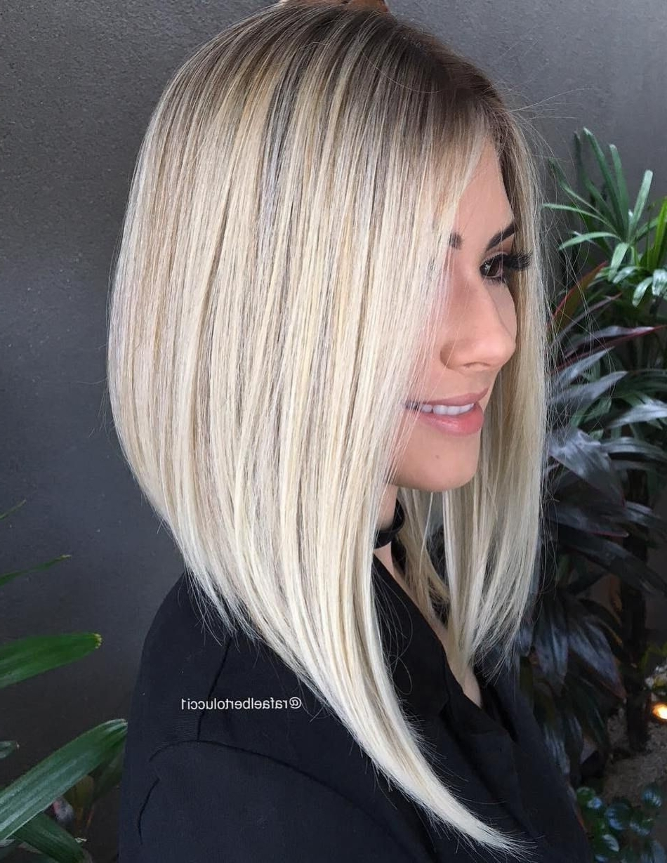 Hair With Regard To Favorite Steeply Angled A Line Lob Blonde Hairstyles (View 11 of 20)