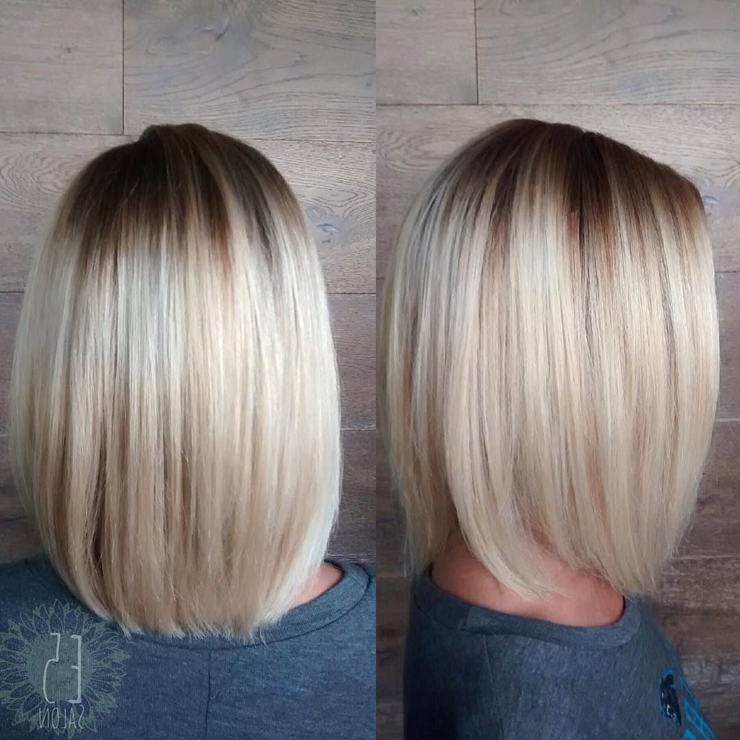 Featured Photo of Rooty Long Bob Blonde Hairstyles