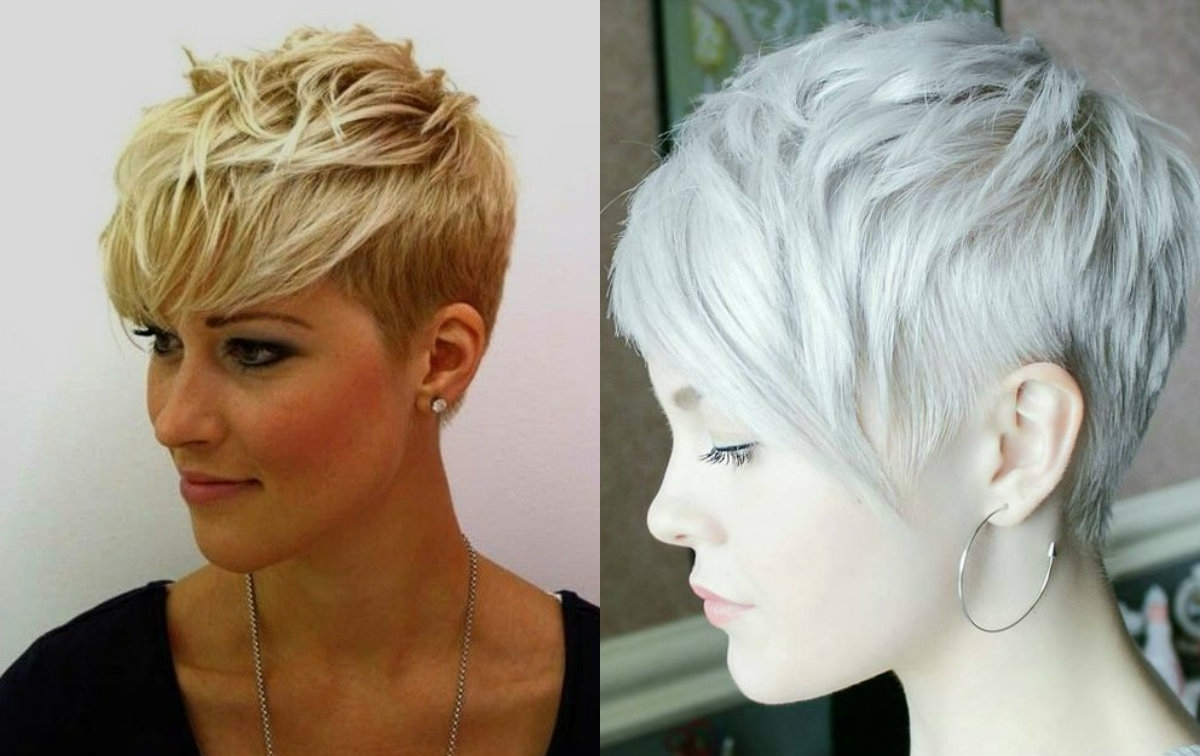 Haircuts Regarding Latest Blonde Pixie Hairstyles With Short Angled Layers (View 11 of 20)