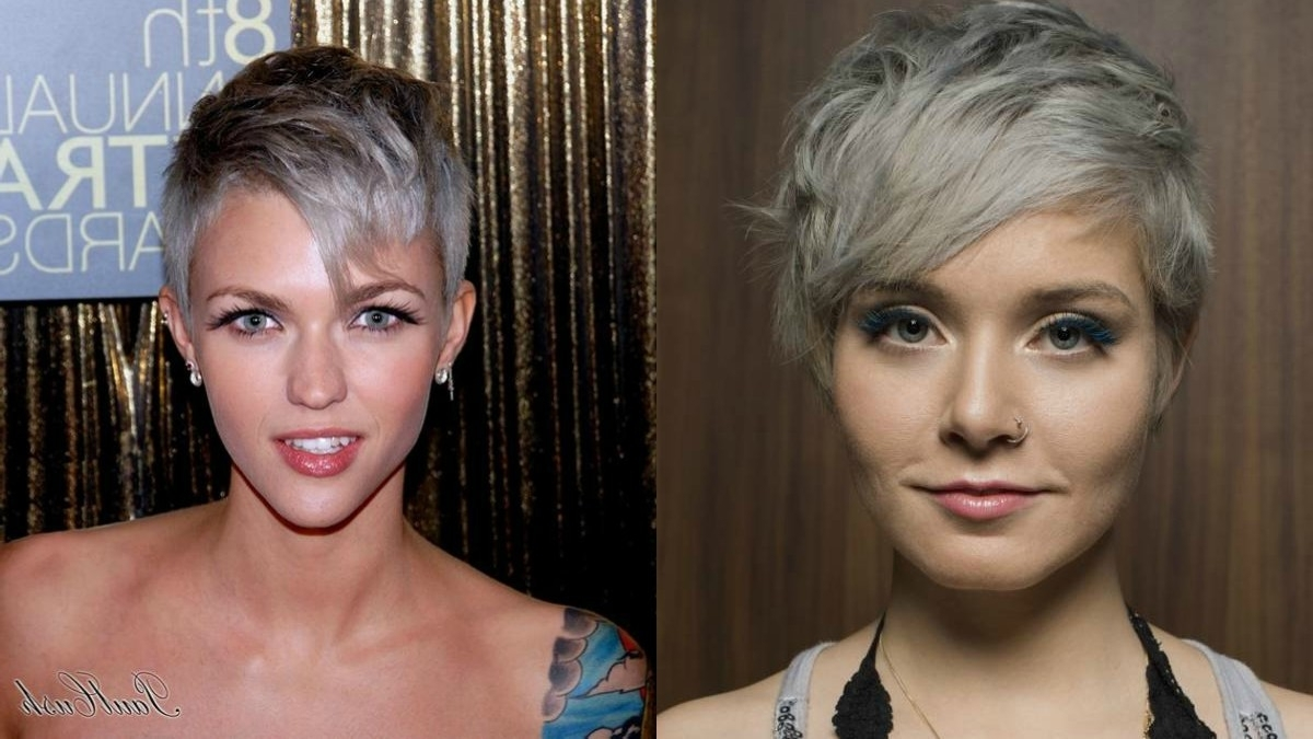 Hairdrome For 2018 Sassy Silver Pixie Blonde Hairstyles (View 8 of 20)