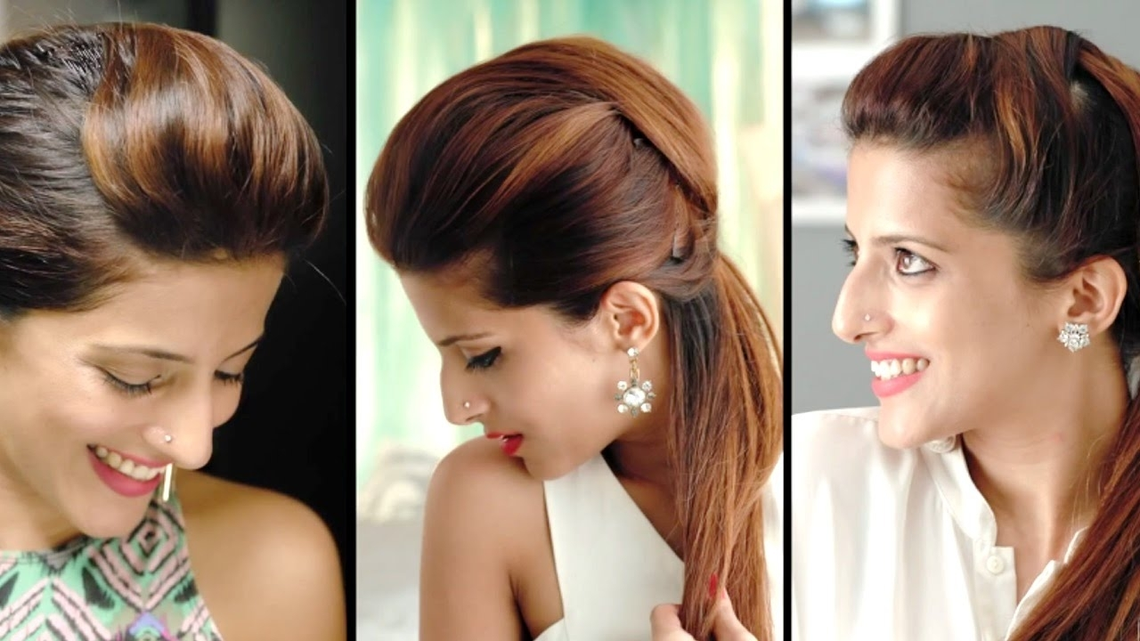 Hairstyles And Quick Ponytail Within Trendy Updo Ponytail Hairstyles With Poof (View 5 of 20)