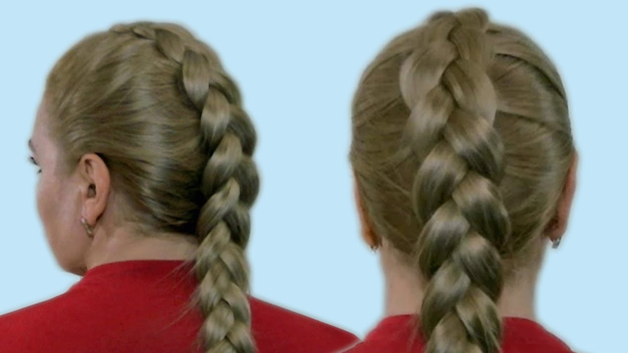 Hairstyles For Medium Long Hair Within Favorite Reverse French Braid Ponytail Hairstyles (View 10 of 20)
