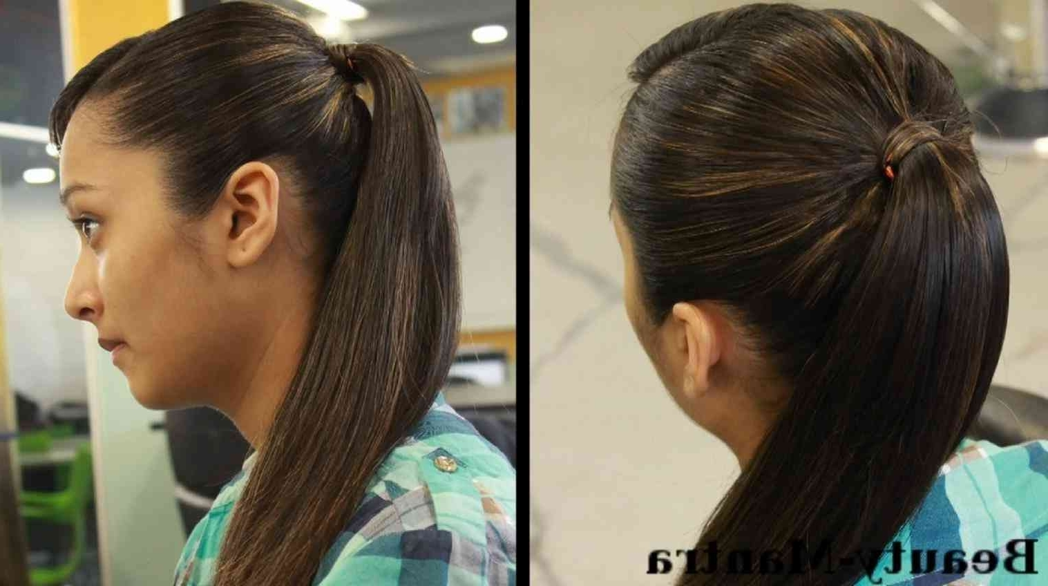 Hairstyles Long Hairstyle For Girls Ponytail For Long Hair Simple Within Trendy Ladder Braid Side Ponytail Hairstyles (Gallery 18 of 20)