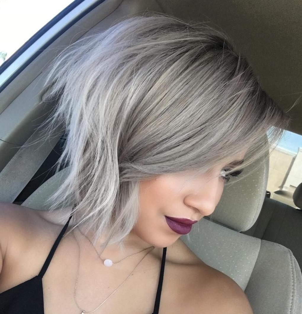 Hairstyles Throughout Current Short Silver Blonde Bob Hairstyles (View 10 of 20)