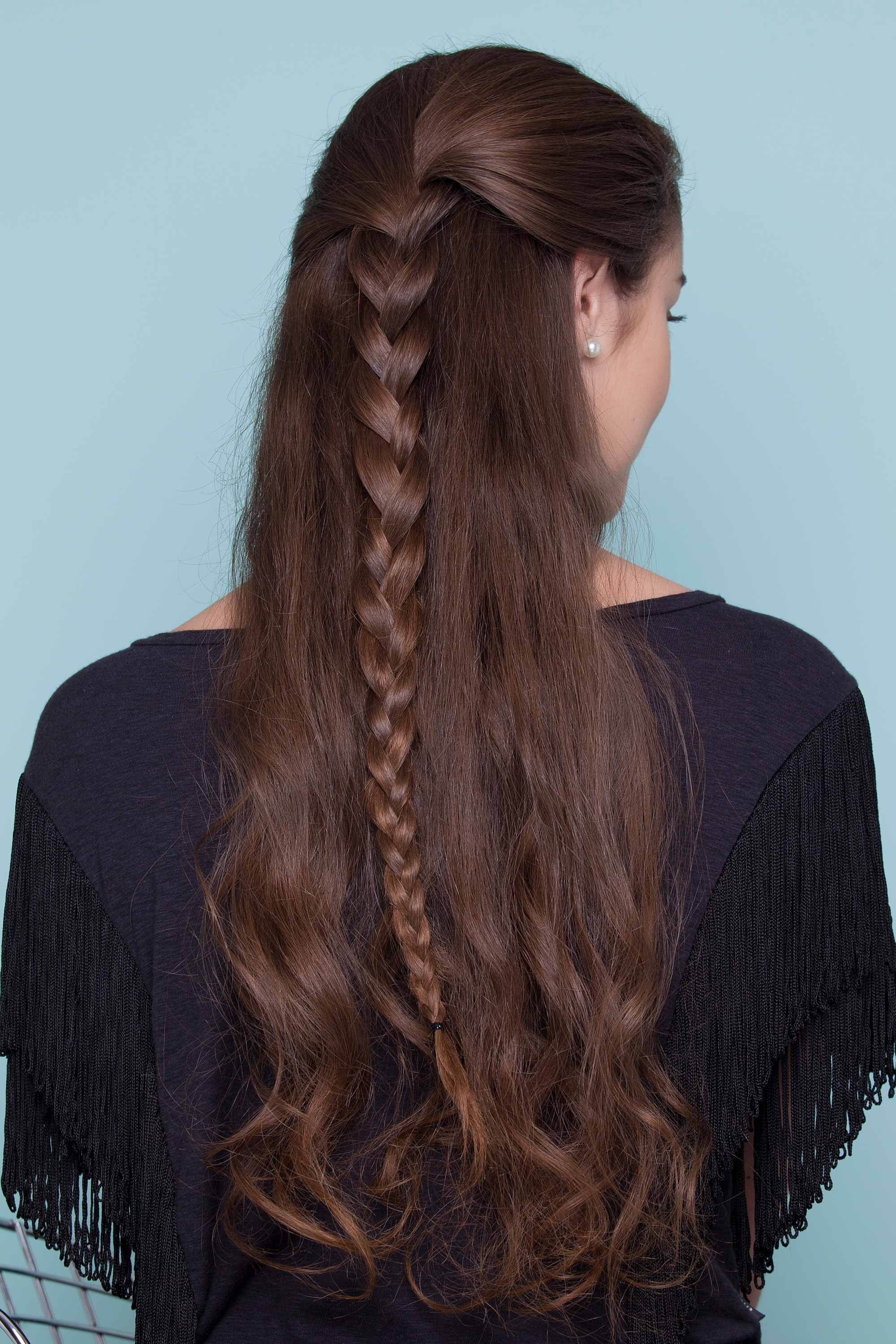 Half Braided Hairstyles: 44 Pretty, Super Flattering Looks Regarding Recent Braided Millennial Pink Pony Hairstyles (View 9 of 20)