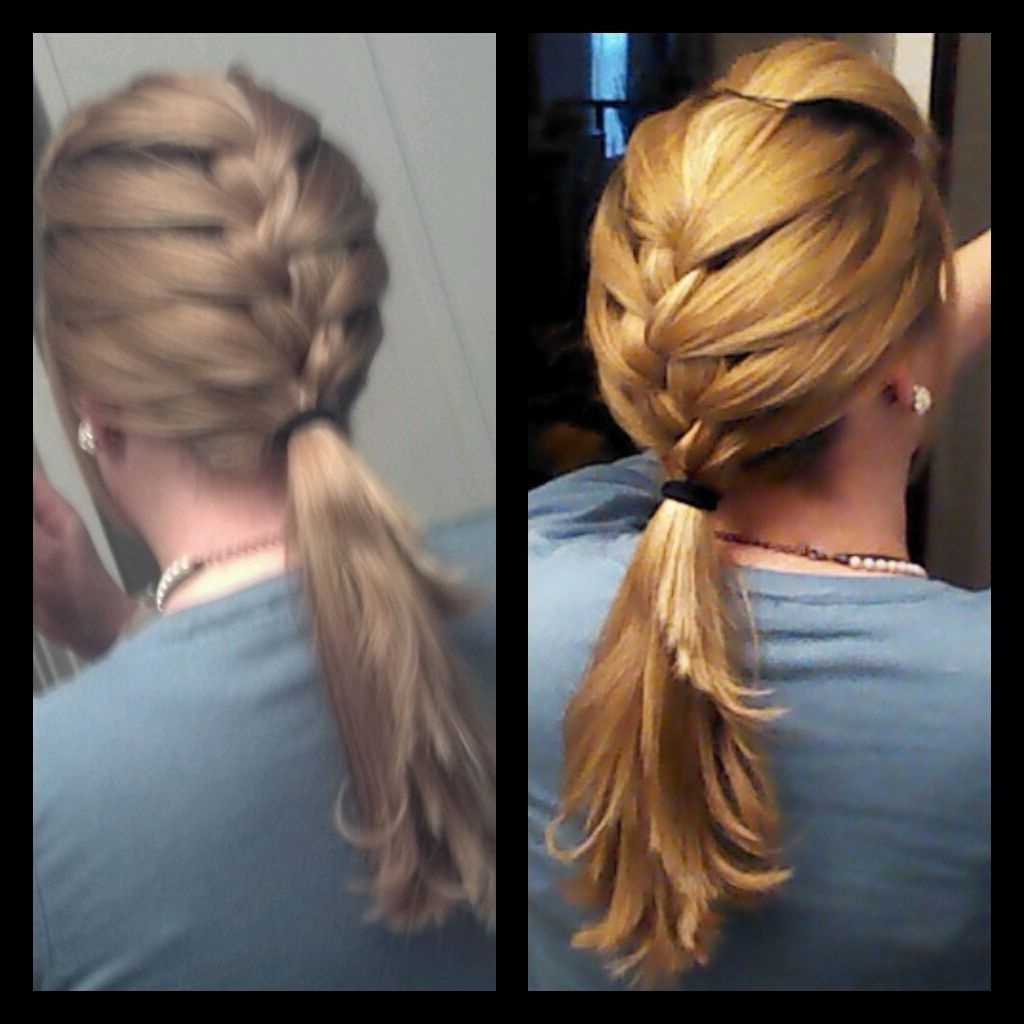 Half French Braid Ponytail. Perfect For Hair With Layers (View 11 of 20)