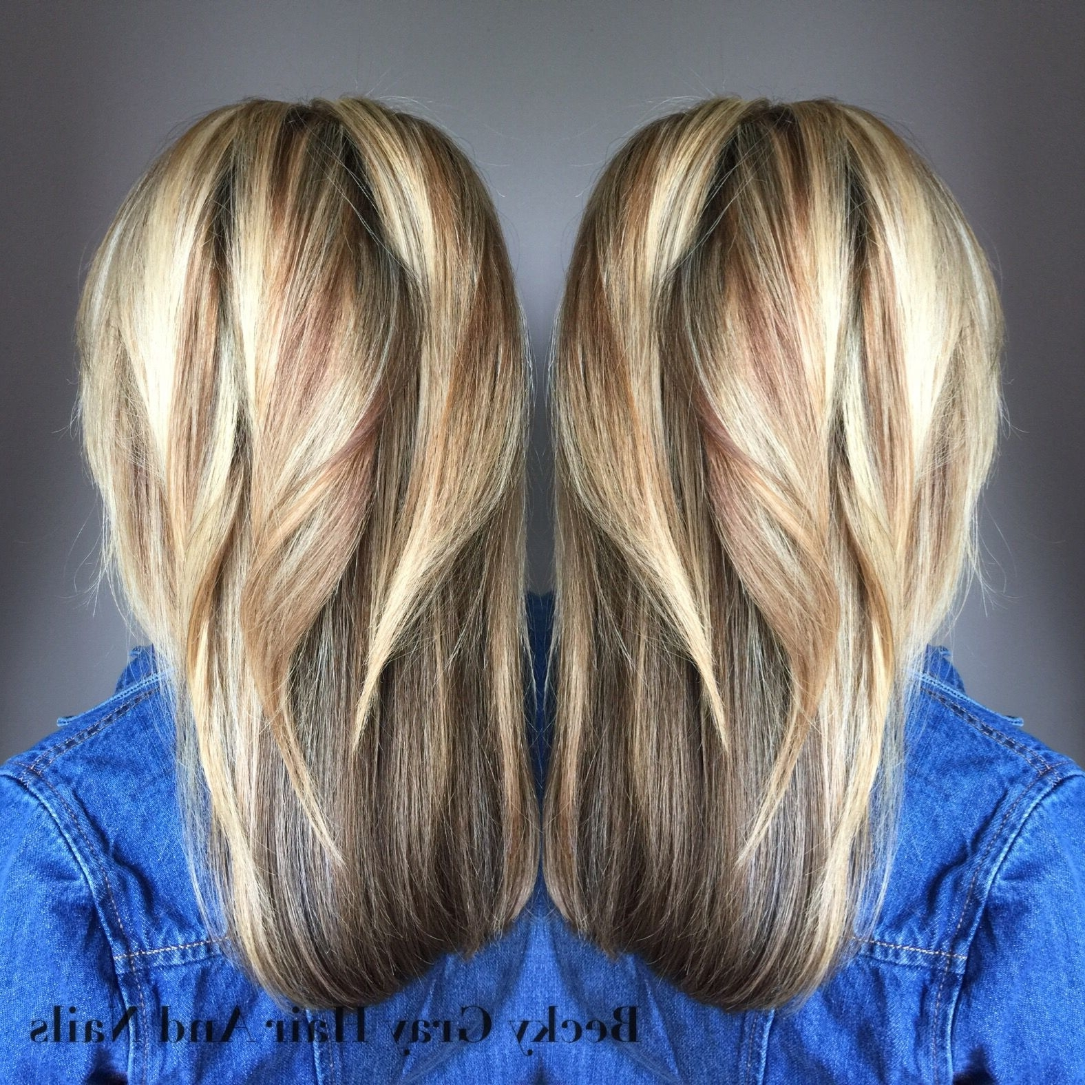 Half Head Of Ash And Pearl Blonde Highlights And Cut And Blowdry With Regard To Well Known Pearl Blonde Highlights (View 5 of 20)
