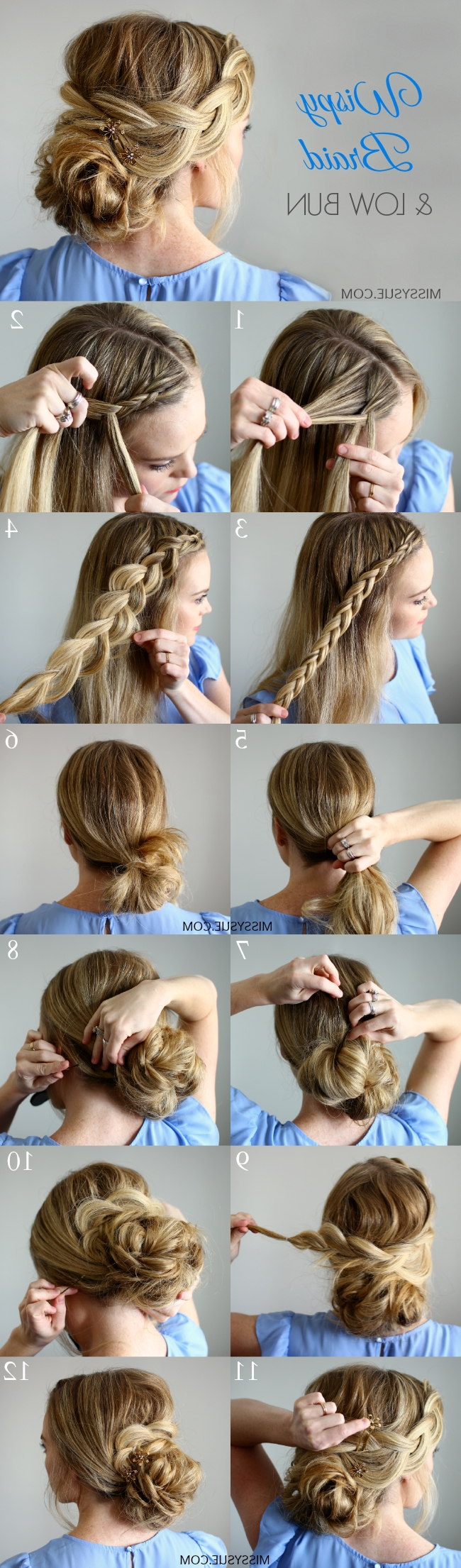 Half Up Double Fishtail French Braids (View 11 of 20)