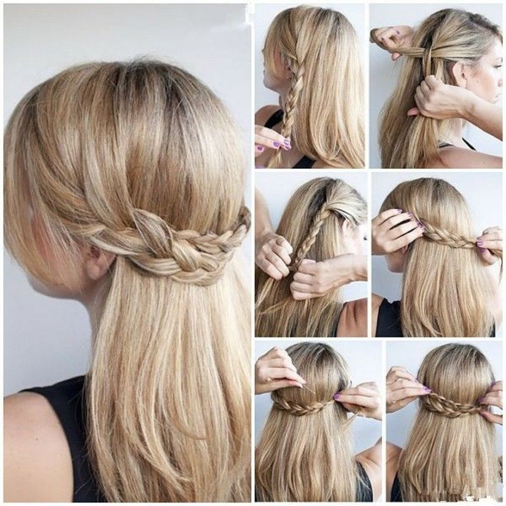Half Up Half Down Hairstyles For Long Thick Hair – Google Search Inside Most Current Half Updo Blonde Hairstyles With Bouffant For Thick Hair (View 6 of 20)