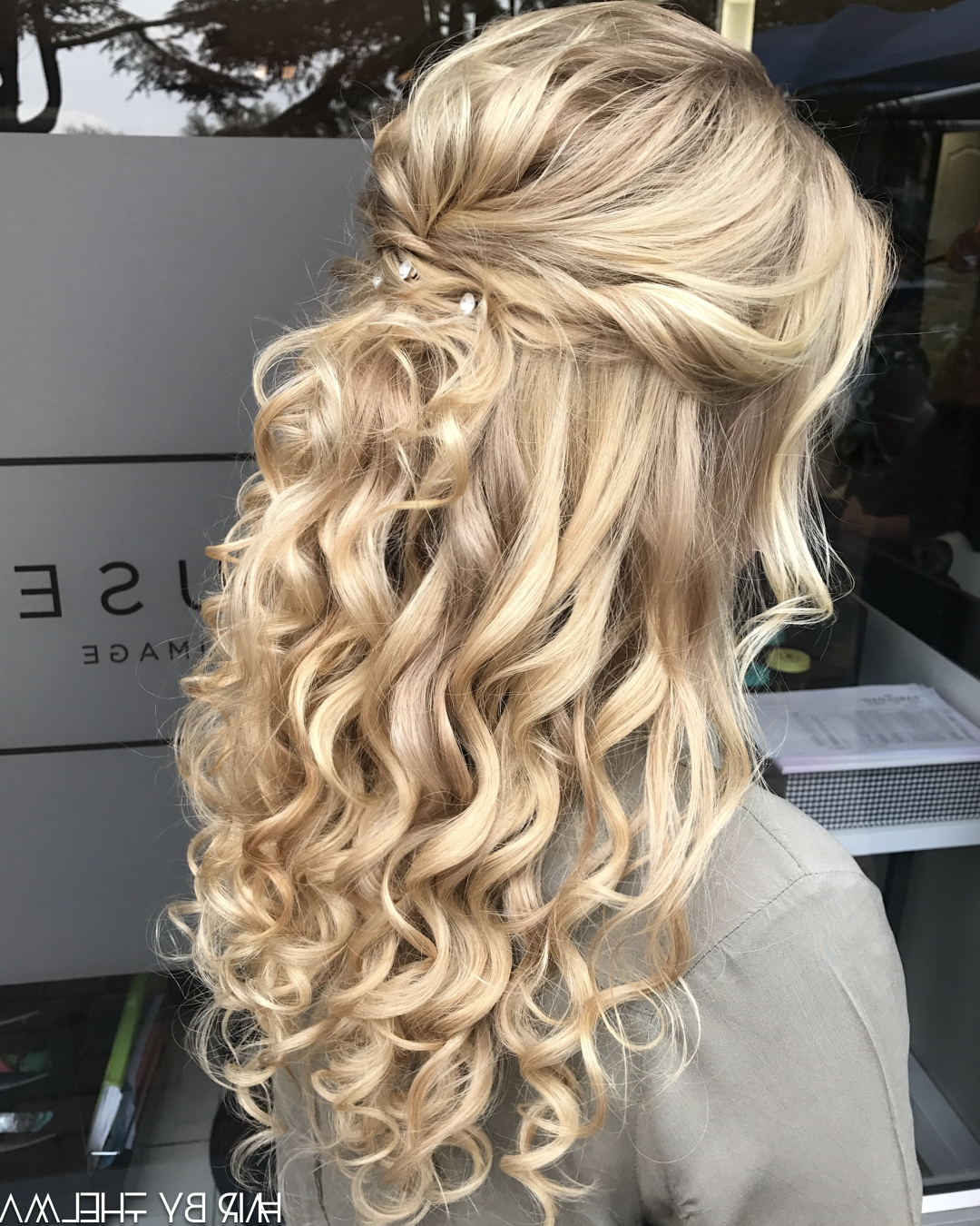Half Up Half Down, Prom Hairstyles, Matric Dance, Diamanté Decor Pertaining To Preferred Half Updo Blonde Hairstyles With Bouffant For Thick Hair (View 12 of 20)
