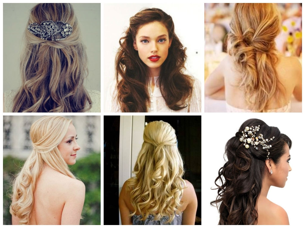 Half Up Half Down Wedding Day Hairstyles – Hair World Magazine Inside Most Recently Released Half Up Curly Do Ponytail Hairstyles (View 14 of 20)