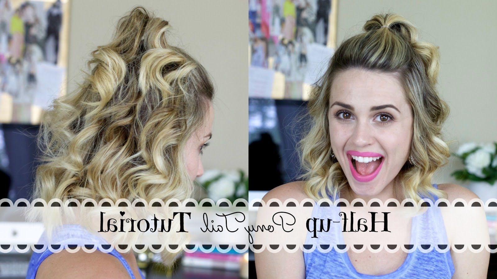 Half Up Ponytail Tutorial – Youtube For Well Known Pebbles Pony Hairstyles (View 11 of 20)