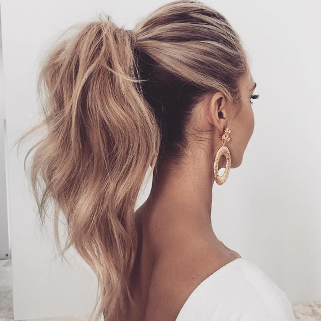Hello With Regard To Most Up To Date Textured Ponytail Hairstyles (View 9 of 20)