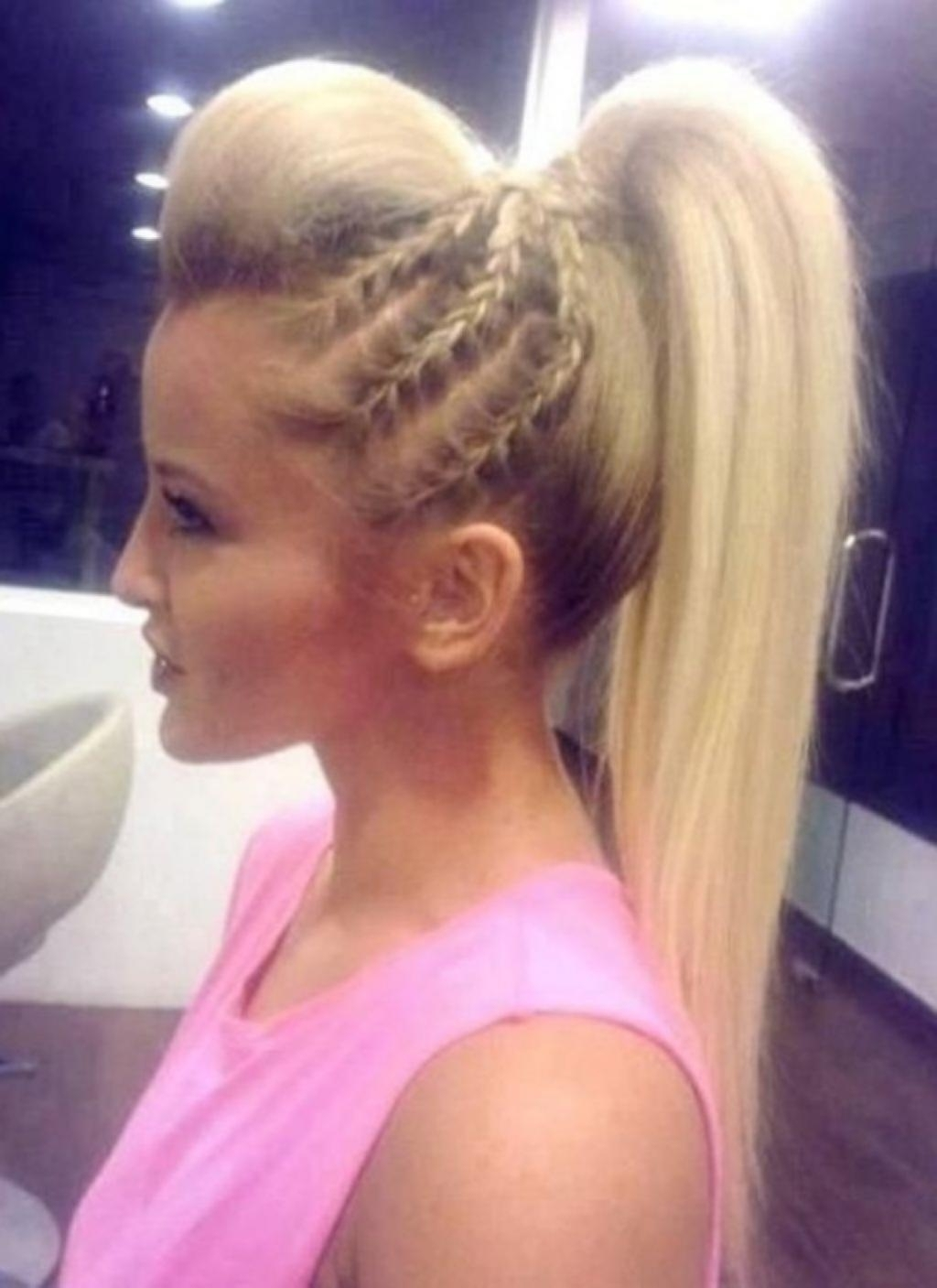High Ponytail Hairstyles Bump Ponytail Hairstyle With Bump Regarding Newest Ponytail Hairstyles With Bump (View 9 of 20)