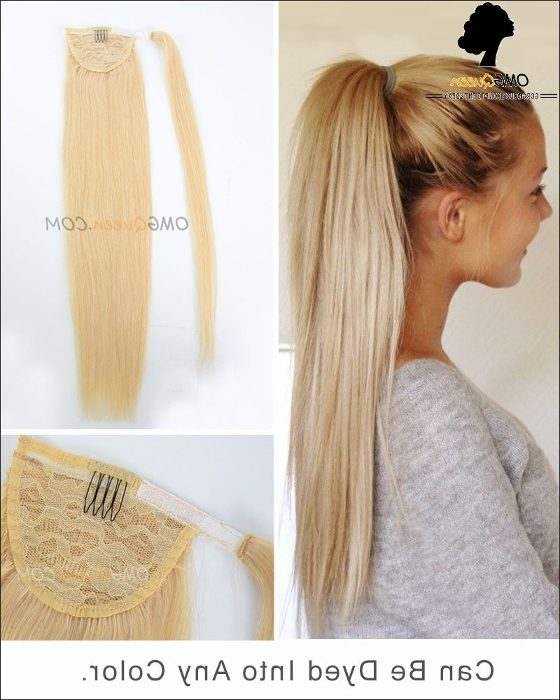 High Quality #613 White Blonde Ponytail Indian Virgin Hair With Regard To Most Recently Released Long Brown Hairstyles With High Ponytail (View 12 of 20)