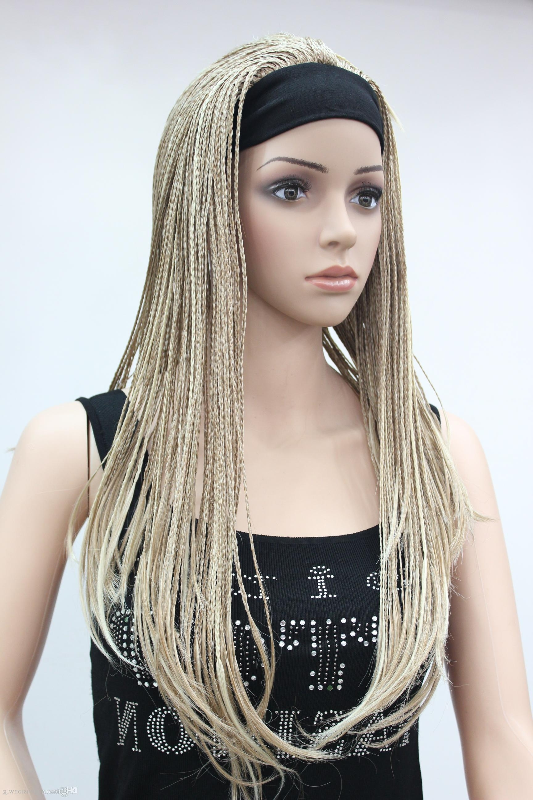 High Quality Fashion Flaxen With Blonde 3/4 Wig With Headbands With Regard To Recent Soft Flaxen Blonde Curls Hairstyles (View 13 of 20)