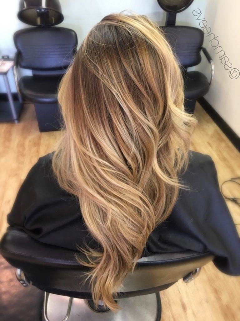 Honey Platinum White Blonde Sandy Warm Tones // Long Haircut With Throughout Preferred Grown Out Platinum Ombre Blonde Hairstyles (View 9 of 20)
