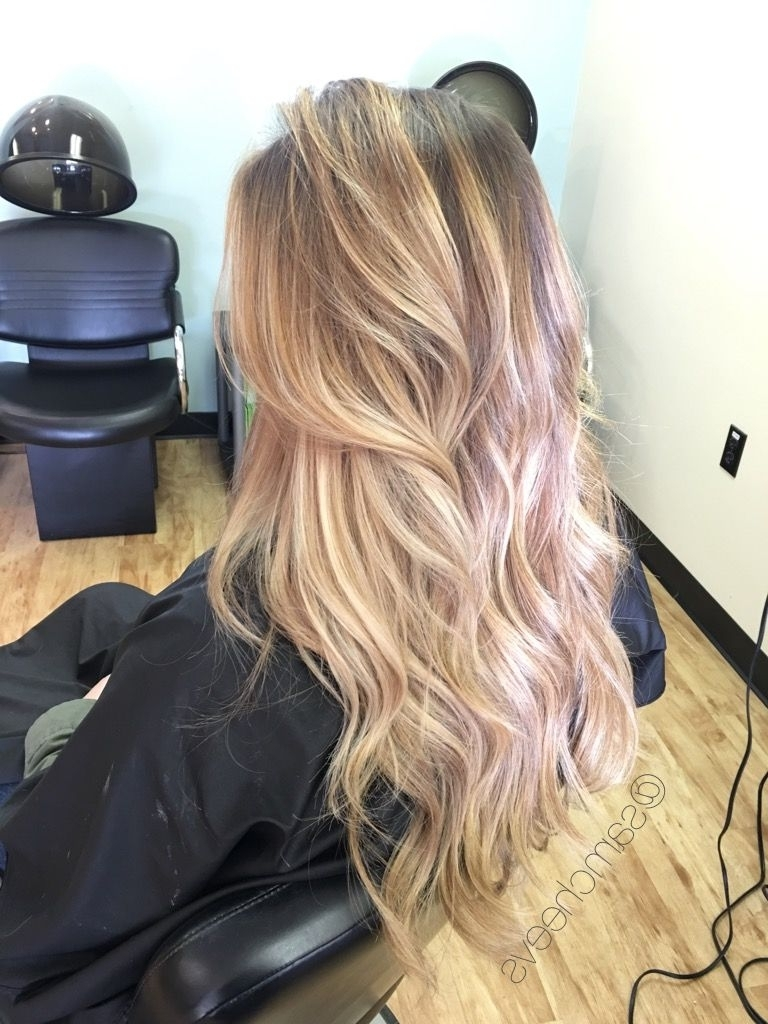 Honey Platinum Winter Golden Blonde Balayage // Ombre For Dirty Intended For Preferred Dirty Blonde Balayage Babylights Hairstyles (View 7 of 20)