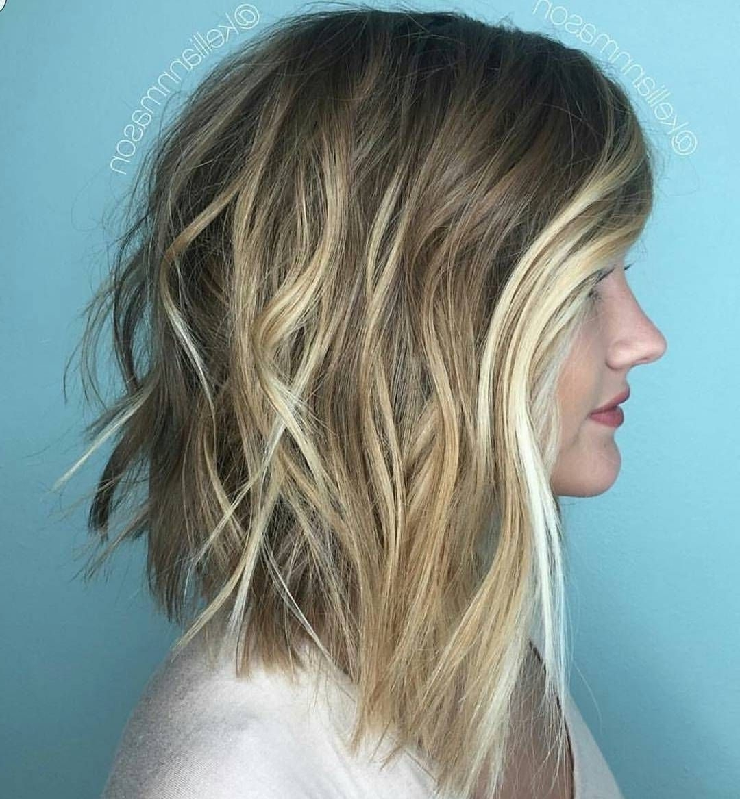 How To: Blunt Lob + Blonde Balayage (View 12 of 20)