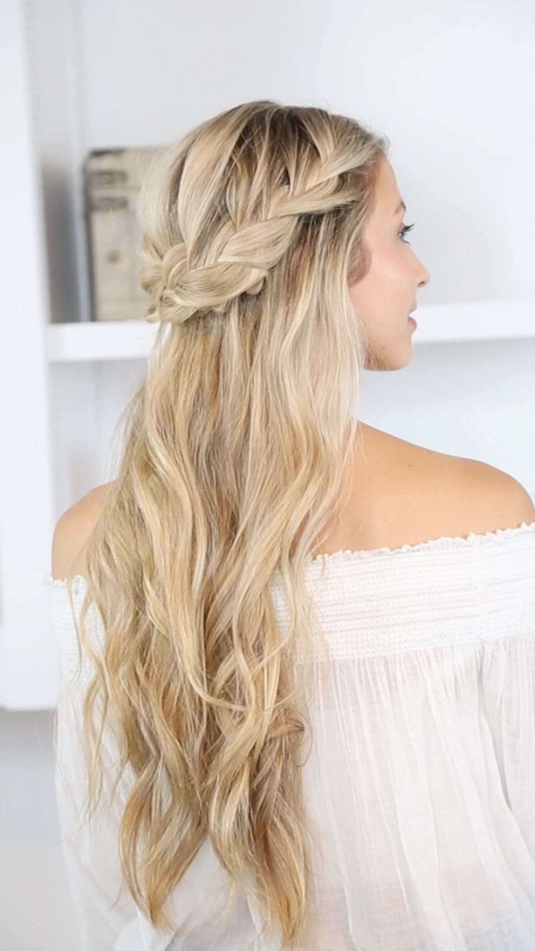 How To: Braided Half Up And Beach Waves – Youtube Pertaining To Newest Beachy Braids Hairstyles (View 10 of 20)