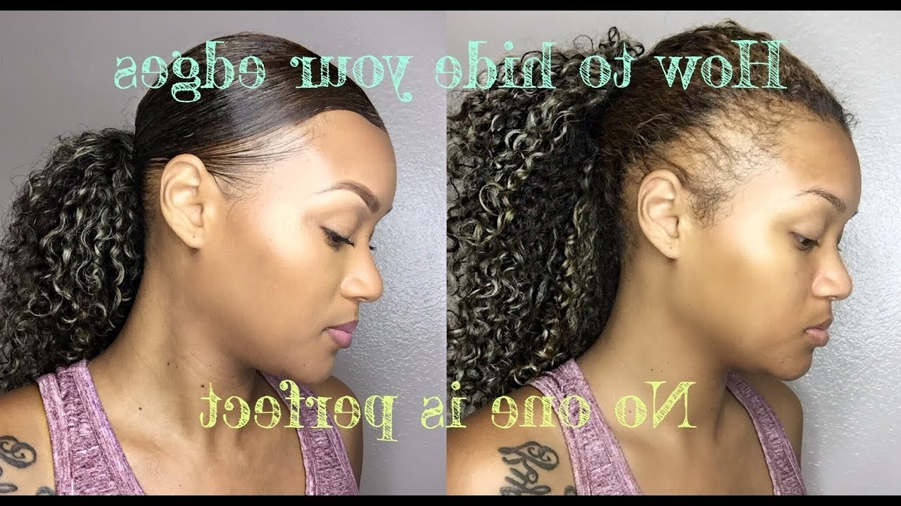 How To Create A Sleek Ponytail When You Have Negative Edges Intended For Well Known Chocolatey Pony Hairstyles With Wavy Edges (View 3 of 20)