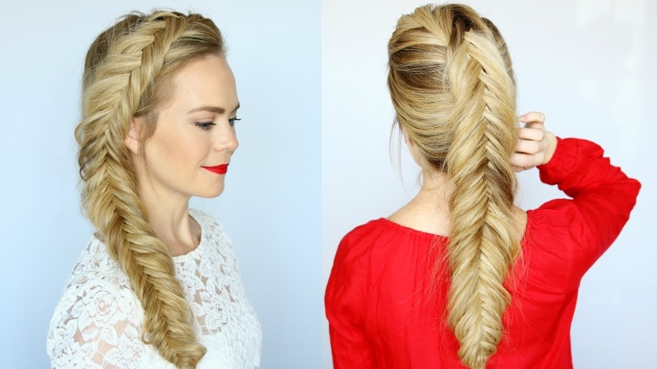 How To Dutch Fishtail Braid For Beginners (View 17 of 20)