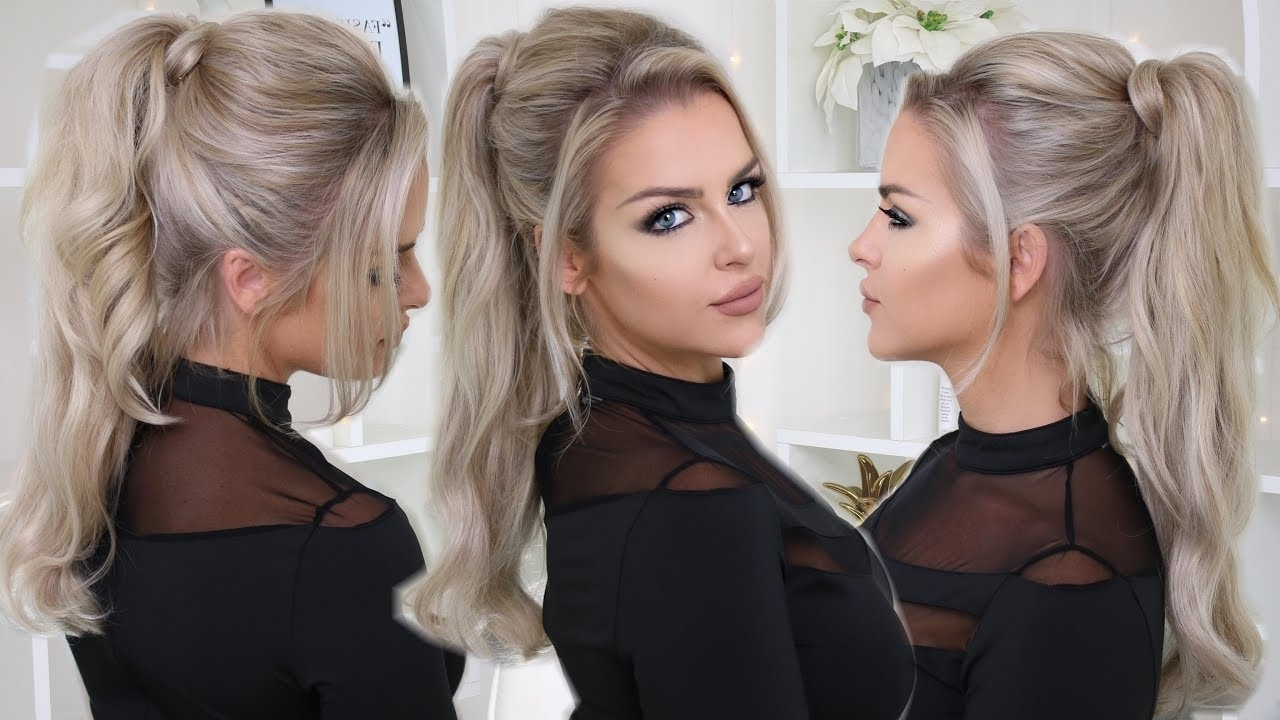 How To: Easy Glam Ponytail – Youtube In 2017 Glamorous Pony Hairstyles (View 14 of 20)