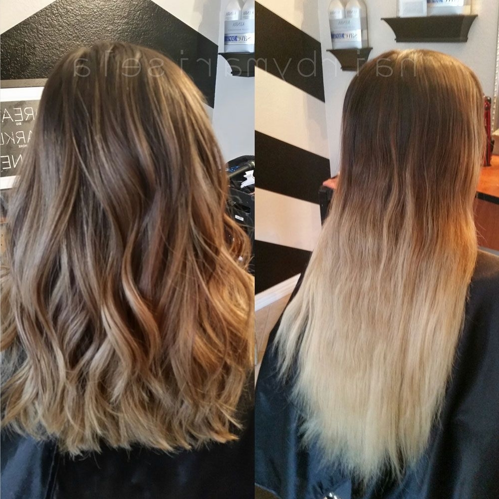 How To: From Grown Out Ombre To Perfect Color Melt – Career With Most Popular Grown Out Balayage Blonde Hairstyles (View 12 of 20)