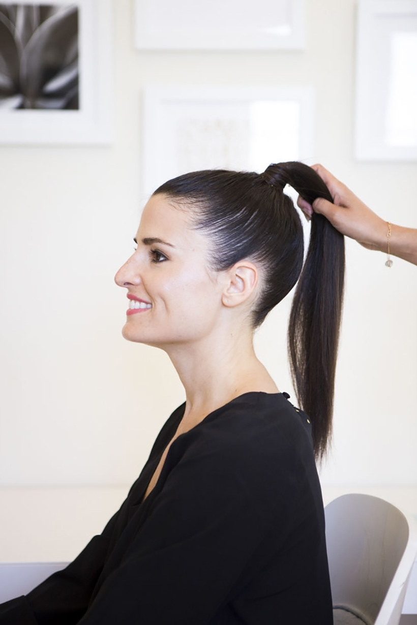 How To Get A Runway Perfect Slicked Back Pony – Camille Styles Intended For Latest High Sleek Ponytail Hairstyles (View 11 of 20)