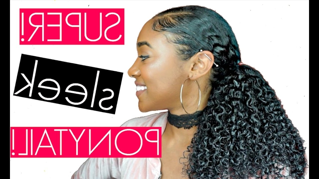 How To: Get A Sleek Curly Ponytail (+Laid Edges) (View 12 of 20)