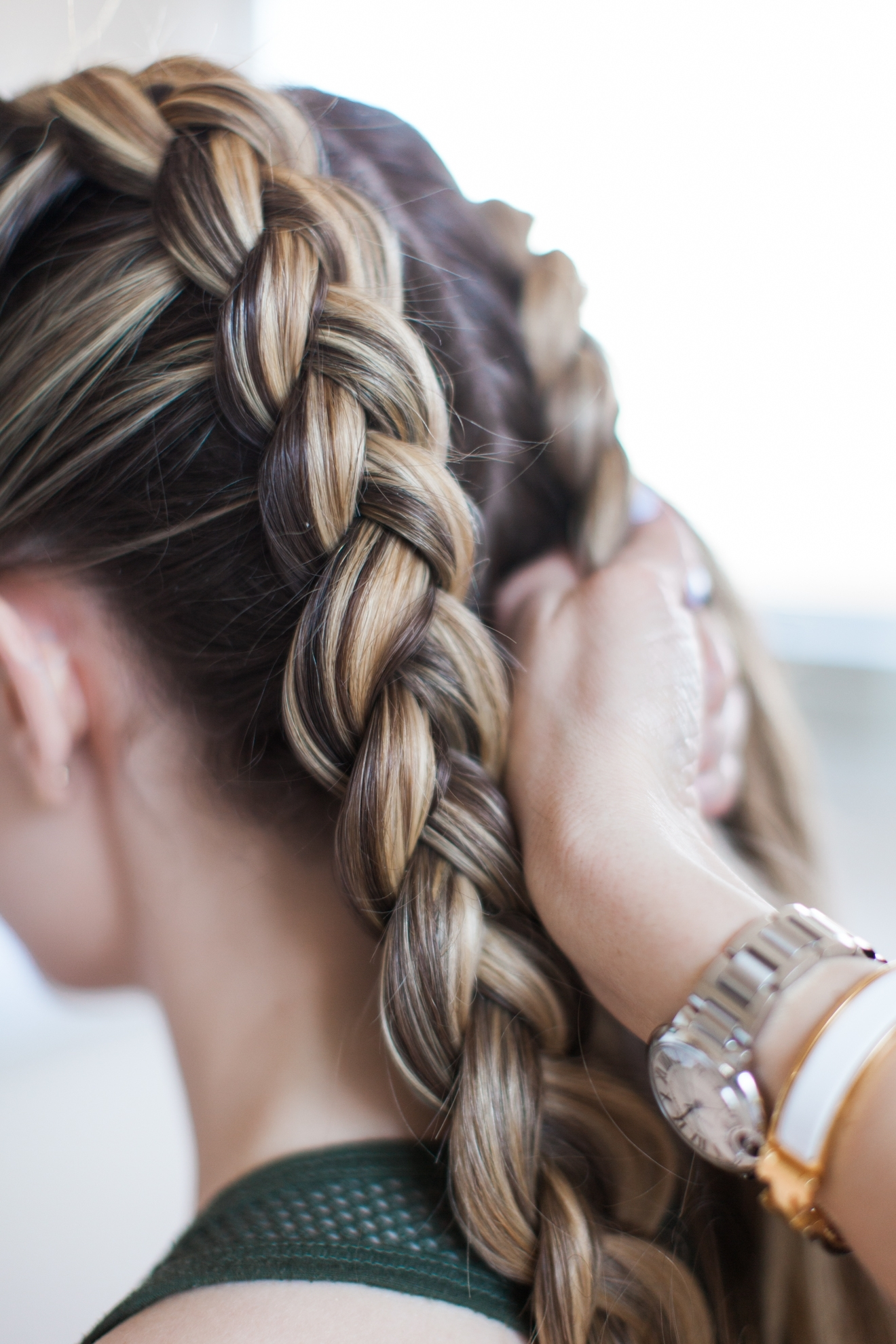 How To Get The Kylie Jenner Double Dutch Braids – Stylisted Throughout Most Current Ponytail Hairstyles With Dutch Braid (View 13 of 20)