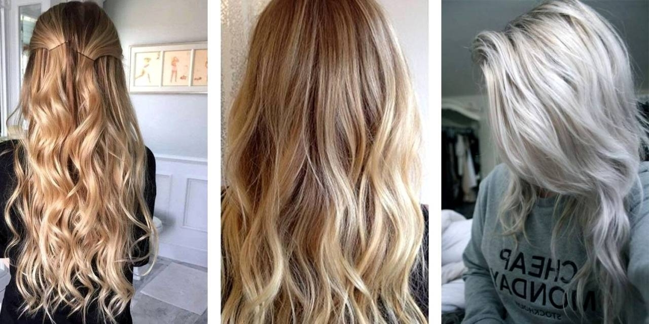 Photo Gallery Of White Blonde Hairstyles For Brown Base Viewing 17