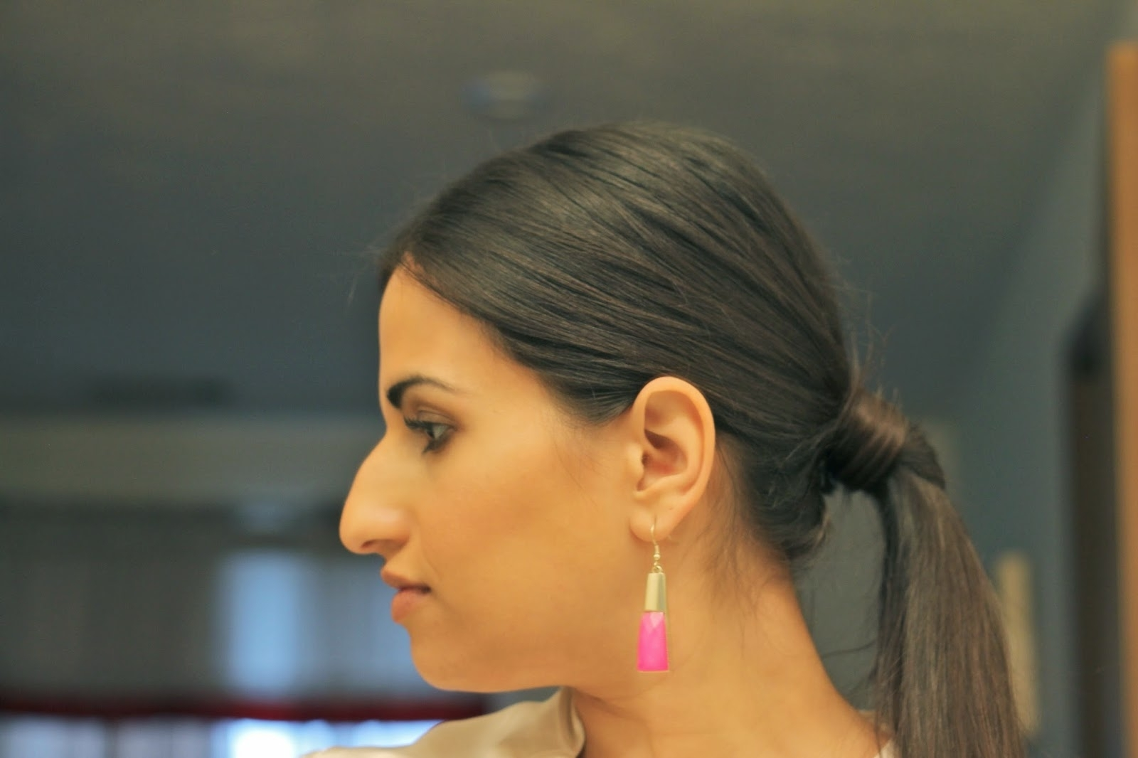 How To: Middle Part Low Ponytail – Dina's Days Pertaining To Most Current Center Parted Pony Hairstyles (View 13 of 20)